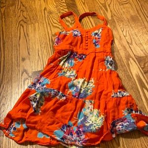 American Eagle Red Floral Dress Size 0